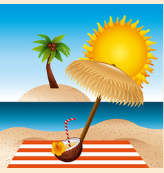tropical beach vacation image vector image vector image