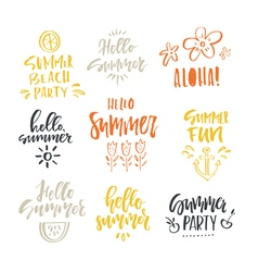 Unique Summer Lettering vector image
