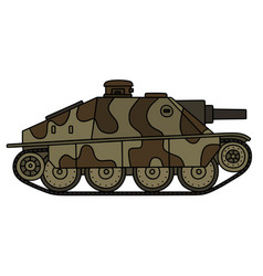 Vintage tank destroyer vector