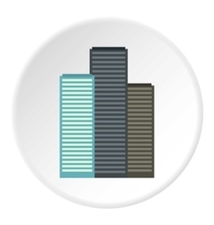 Skyscrapers icon flat style vector