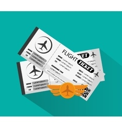 Tickets to travel design vector