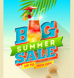 big summer sale design vector image