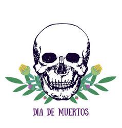 mexican print - dia de muertos day of the dead vector image