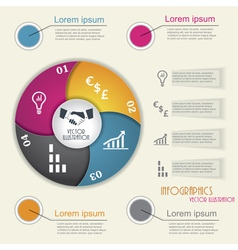 Modern infographic template design for your busine vector