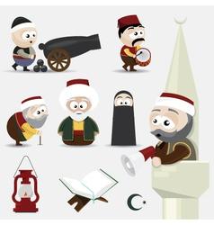Ramadan icons vector