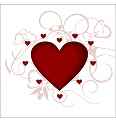 heart love the valentines day vector image