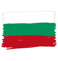 Flag of bulgaria handmade vector