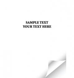Paper curl vector
