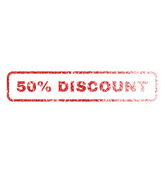 50 percent discount rubber stamp vector image