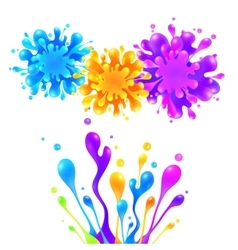 Bright rainbow colors paint splash vector