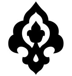 ottoman iznik motif vector image