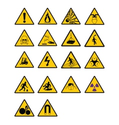 Warning safety signs vector