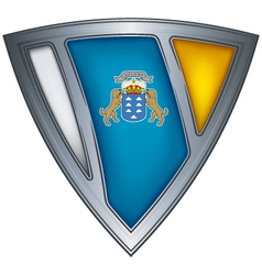 Steel shield canary islands vector