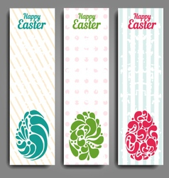 Grunge vertical banners set with ornamental easter vector