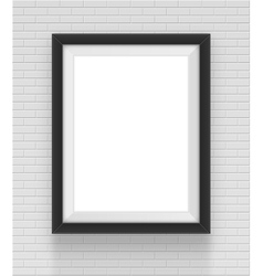 square black frame on the brick wall background vector image