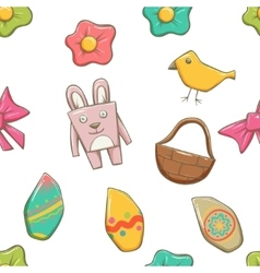 Easter elements seamless texture vector