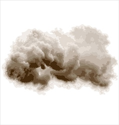 Gray cloud vector
