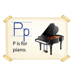 A letter P for piano vector image