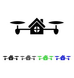 Air house flat icon vector