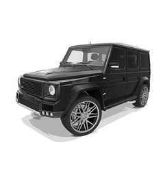 black big representative jeep vector image