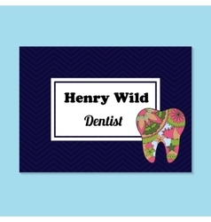 Business card for dentist vector