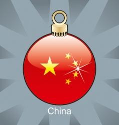 china flag on bulb vector image vector image