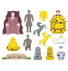 China History Objects Set vector image