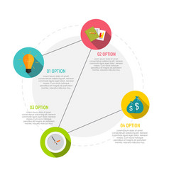 Circle infographic elements templates for business vector