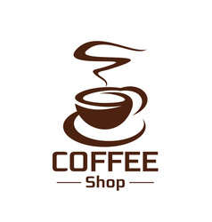 Coffeeshop coffee cup steam icon vector