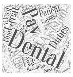 Dental assistant pay word cloud concept vector