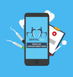 Dental clinic book an appointment online entry vector