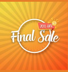 Final sale poster vector