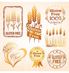 Gluten free design elements vector
