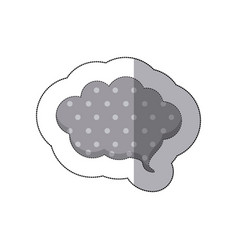 gray cloud chat bubble icon vector image vector image