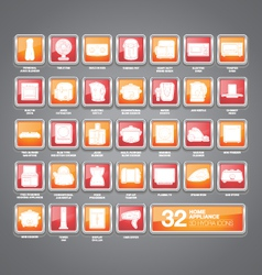 Home Appliances Icons Hydra vector image