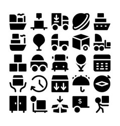 Logistics delivery Icons 6 vector image vector image