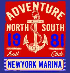 Nautical design anchor graphic sailor set hand vector
