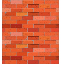 Red Brick Wall Seamless Pattern Background vector image