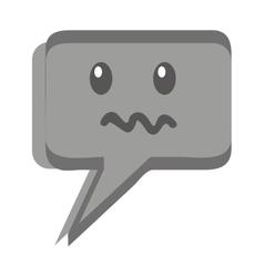speech bubble face kawaii vector image vector image