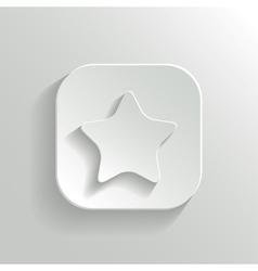 Star icon - white app button vector image
