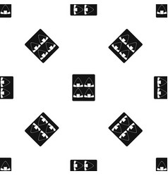 Sushi pattern seamless black vector