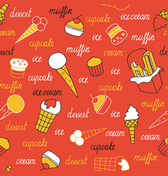 Sweets on a red background vector