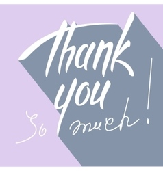 Thank you hand lettering card vector