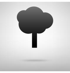 Tree black icon vector image