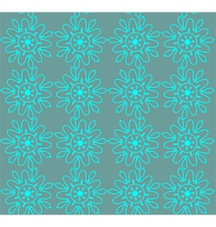 Turquoise abstract lace flowers on the teal vector