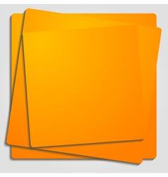 Vibrant orange template vector image vector image