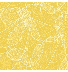 Yellow foliage seamless background vector image vector image
