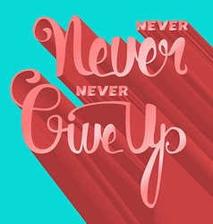 Lettering motivation poster vector