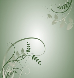 Floral background - plant leaves vector image