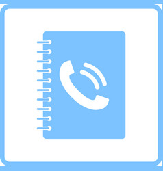Phone book icon vector